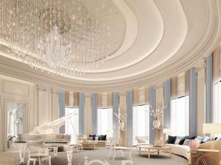 Grand Piano Room Design IONS DESIGN Living room Marble Multicolored
