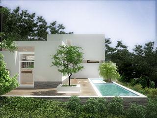 Sonoma RRA Arquitectura Piscinas de jardín Madera Blanco