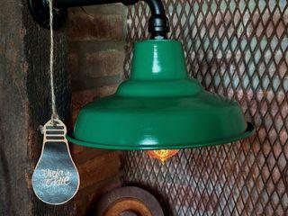 Lámparas Galponeras De Pared Vieja Eddie Lamparas Vintage Vieja Eddie LivingsIluminación Hierro/Acero Verde