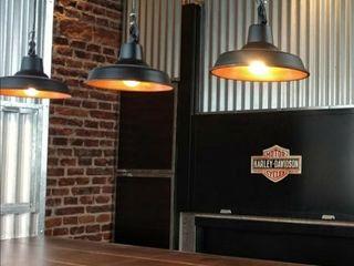 Lámparas Galponeras Colgantes Iluminación Estilo Industrial Deco Loft Lamparas Vintage Vieja Eddie EstudioIluminación Aluminio/Cinc Negro