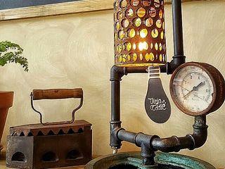 Lampara Estilo Industrial Deco Cafeteria Lamparas Vintage Vieja Eddie Oficinas y locales comerciales Hierro/Acero Gris