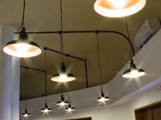 Lamparas Colgantes Estilo Vintage Industrial Deco Living Loft Lamparas Vintage Vieja Eddie Oficinas y locales comerciales Aluminio/Cinc Negro