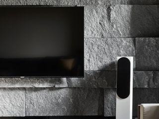 框.無框 Cubic Cave 理絲室內設計有限公司 Ris Interior Design Co., Ltd. 现代客厅設計點子、靈感 & 圖片 石灰岩 Grey