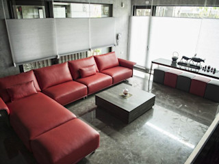 勻境設計 Unispace Designs Modern Living Room Red