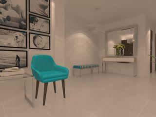Giovanna Solano - DLuxy Muebles Design 现代客厅設計點子、靈感 & 圖片 鐵/鋼 Turquoise