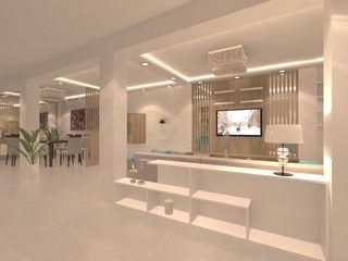 Giovanna Solano - DLuxy Muebles Design 視聽室 刨花板 Wood effect