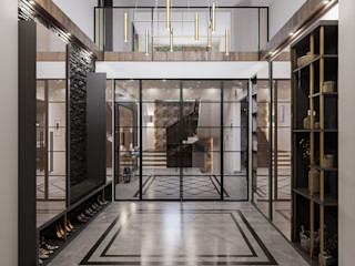 ANTE MİMARLIK Corridor, hallway & stairs Clothes hooks & stands