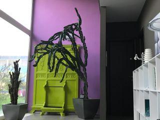 MEF Architect 隨意取材風玄關、階梯與走廊 木頭 Pink