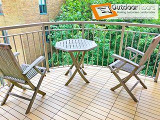 Outdoor Floors Toronto Balcony Wood-Plastic Composite Amber/Gold