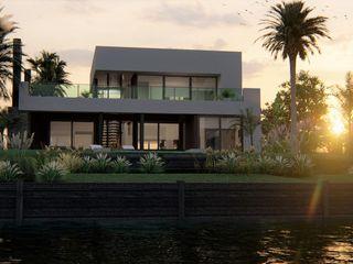 PROYECTO EN LA VIRAZON - NORDELTA Rocha & Figueroa Bunge arquitectos Casas unifamiliares Ladrillos Blanco