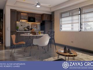 Zayas Group Small kitchens Chipboard Grey
