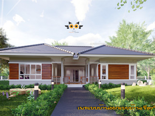 บ้านพักตากอากาศ แบบบ้านออกแบบบ้านเชียงใหม่ บ้านเดี่ยว คอนกรีต Grey