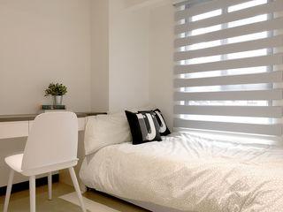 簡潔清爽的北歐風臥室–Yoka 遮光斑馬簾 MSBT 幔室布緹 臥室布織品 合成纖維 Grey