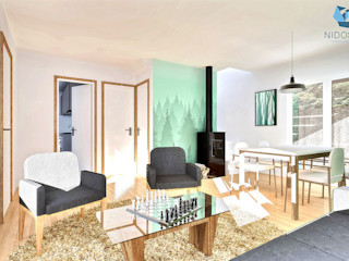 NidoSur Arquitectos - Valdivia Modern Oturma Odası
