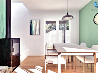 NidoSur Arquitectos - Valdivia Modern Yemek Odası