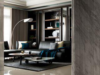 瀞若.覓謐  Sequestered Reality 理絲室內設計有限公司 Ris Interior Design Co., Ltd. 现代客厅設計點子、靈感 & 圖片