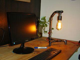 Lámpara Estilo Industrial Deco Oficina Foco Vintage Lamparas Vintage Vieja Eddie Oficinas y locales comerciales Hierro/Acero Gris