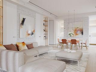Suiten7 Salas de estilo industrial Beige