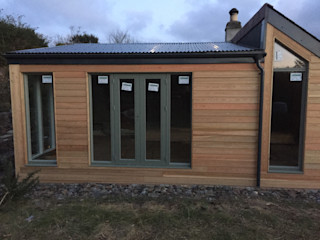 Rationel Windows & Doors Distributor Building With Frames Wooden houses Glass