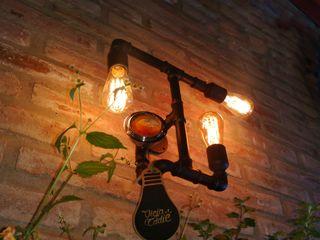 Decoración Lámpara Estilo Industrial Hierro Manómetro Reutilizado Focos Vintage Lamparas Vintage Vieja Eddie Paisajismo de interiores Hierro/Acero Negro