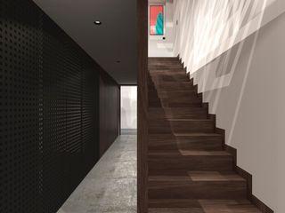 TW/A Architectural Group Korytarz, hol i schodySchody Drewno Brązowy