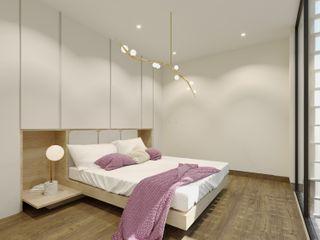 TW/A Architectural Group SypialniaŁóżka i zagłówki Drewno Biały