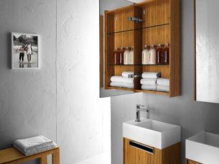 Lineabeta BathroomStorage Bamboo Wood effect