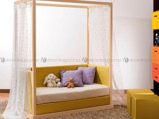 Decordesign Interiores Дитяча кімнатаЛіжка та дитячі ліжечка Текстильна Жовтий