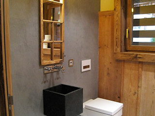 Beton & Holz BETON2 Moderne Badezimmer Beton Grau