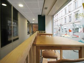 Agence ADI-HOME Ruang Studi/Kantor Modern Kayu White