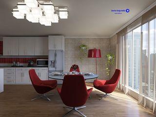 'Design studio S-8' Cozinhas minimalistas