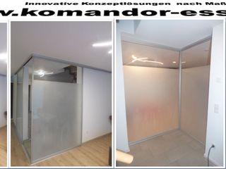 Schiebetüren - Gleittüren - Raumteiler Komandor Essen Schiebetüren Studio Jarosch Siegfried Moderner Flur, Diele & Treppenhaus Glas