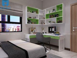 THIẾT KẾ NỘI THẤT CĂN HỘ VẠN ĐÔ 87M2 GỒM 2 PHÒNG NGỦ ANH THIỆN, QUẬN 4, HCM Công ty Cổ Phần Nội Thất Mạnh Hệ Phòng ngủ nhỏ Cục đá Green
