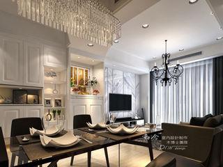 是回家也是旅行 輕古典風飯店質感度假好宅 --曙光之旅2 木博士團隊/動念室內設計制作 客廳 玻璃 White