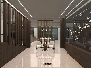 M I D S T Interiors Salas modernas Mármol Beige