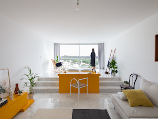 Corpo Atelier Minimalist living room MDF Yellow