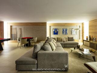 Atelier Susana Camelo Modern Living Room Beige