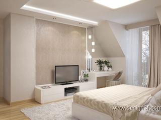 студия Design3F Chambre minimaliste Beige