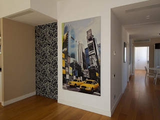 Casa GS 10 CalìArchitetti Pareti & Pavimenti in stile moderno