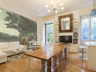 Fabio Carria Asian style living room Wood White