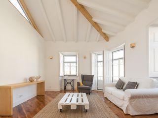 Boost Studio Modern living room Wood White