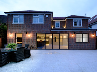 Elgood Avenue IQ Glass UK Jendela ruang bawah tanah Aluminium/Seng Brown