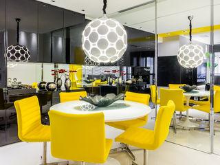Arquitetura Sônia Beltrão & associados Moderne Esszimmer Gelb