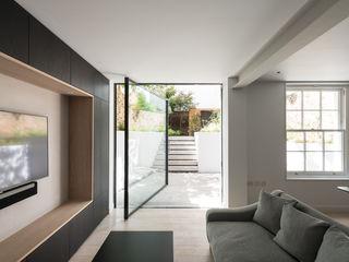 The Bevel Extension IQ Glass UK pintu kaca Aluminium/Seng Grey