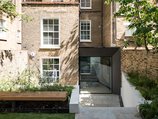 The Bevel Extension IQ Glass UK Rumah teras Aluminium/Seng Grey