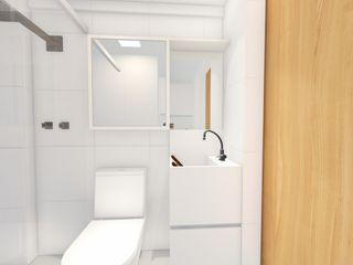 Arquitetura Sônia Beltrão & associados Moderne Badezimmer Weiß