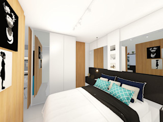 Arquitetura Sônia Beltrão & associados Kleines Schlafzimmer MDF Weiß