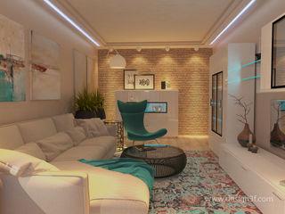 студия Design3F Salon minimaliste Beige