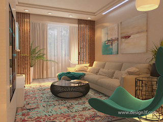 студия Design3F Salon minimaliste