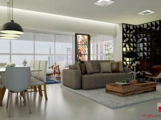 Mais Arquitetura 34 Living roomSofas & armchairs Grey